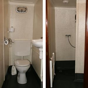 sanitair wc douche op de brandaris