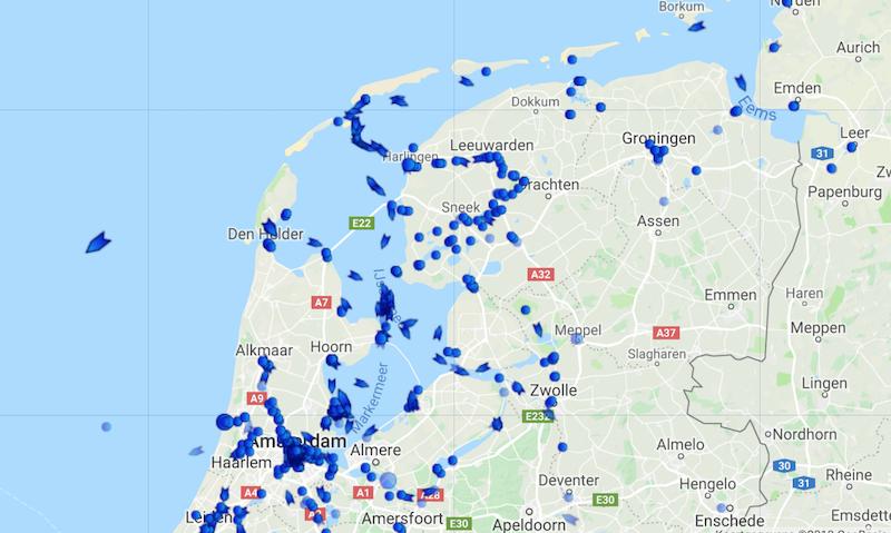Waar is De Brandaris? Klik op de link en kijk op Marinetraffic waar de Brandaris zich op DIT moment bevindt.
